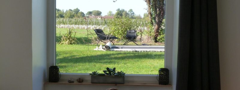 La grange de Victorine, vue depuis la chambre du paon